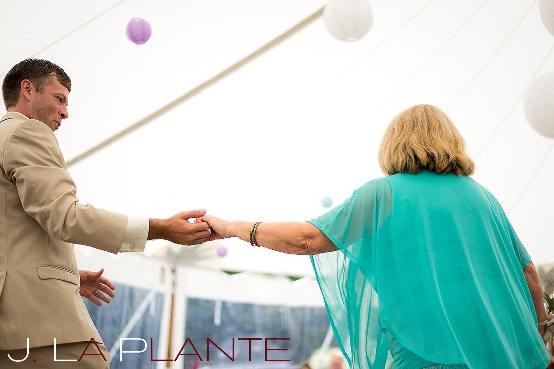J. La Plante Photo | Destination Wedding Photography | Ogunquit Maine Wedding | Mother of the groom dance