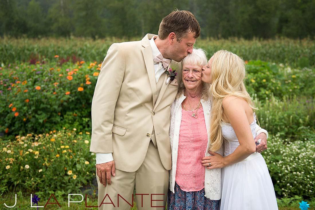 J. La Plante Photo | Destination Wedding Photography | Ogunquit Maine Wedding | Bride and groom with grandma