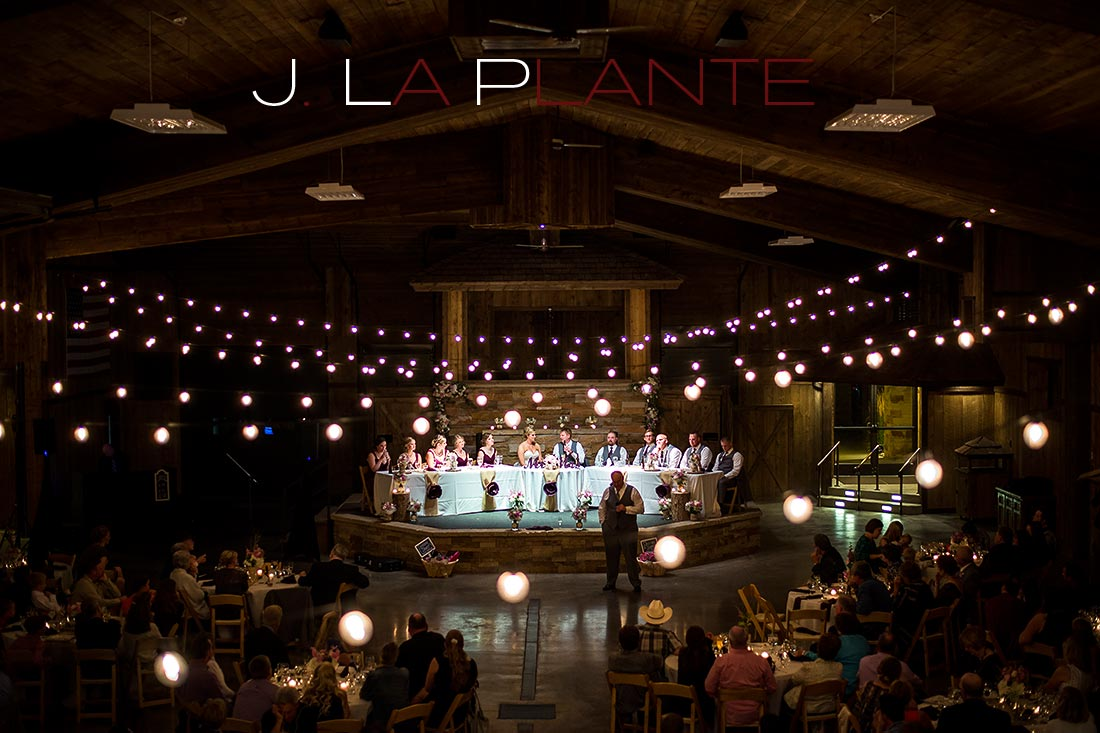 J. La Plante Photo | Colorado Wedding Photography | Spruce Mountain Ranch Wedding | Reception in barn