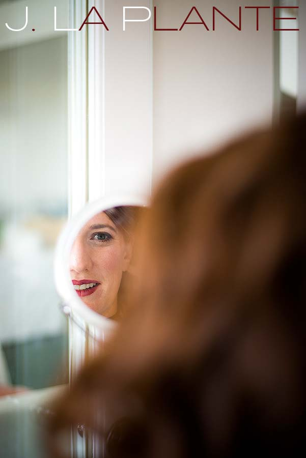 J. La Plante Photo | Aspen Wedding Photography | Aspen Meadows Resort Wedding | Bride looking in mirror