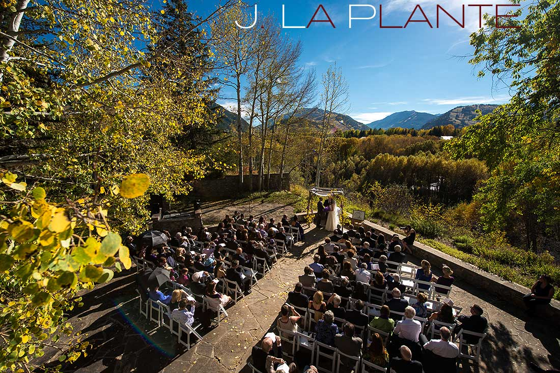 J. La Plante Photo | Aspen Wedding Photography | Aspen Meadows Resort Wedding | Bride and groom during ceremony