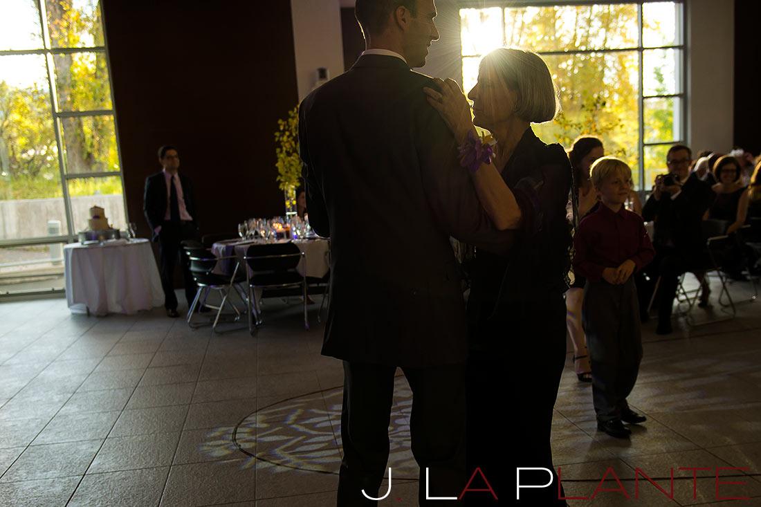 J. La Plante Photo | Aspen Wedding Photography | Aspen Meadows Resort Wedding | Mother/son dance