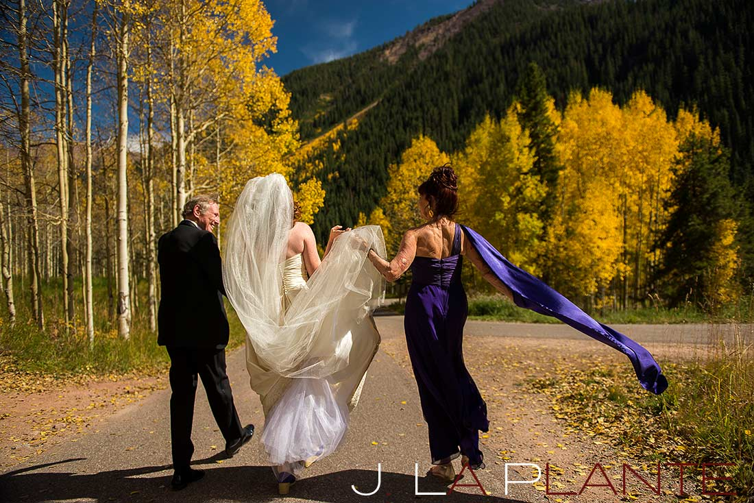 J. La Plante Photo | Aspen Wedding Photography | Maroon Bells Wedding | Parents with bride