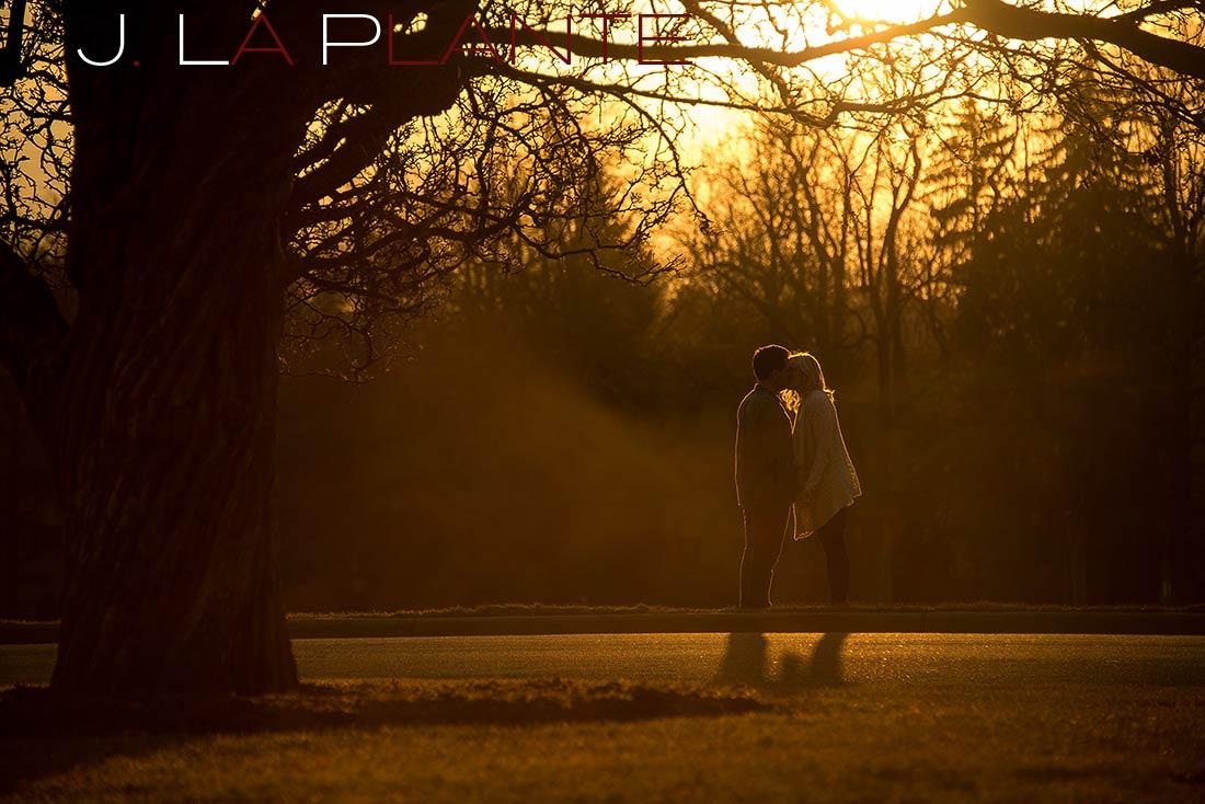J. LaPlante Photo   Denver Engagement Photographer   Cheesman Park Engagement   Sunset Engagement Photo