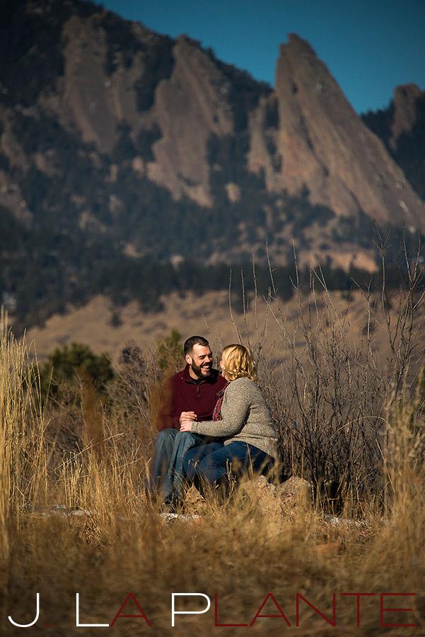 Flatiron engagement | Boulder winter engagement photos | J. La Plante Photo
