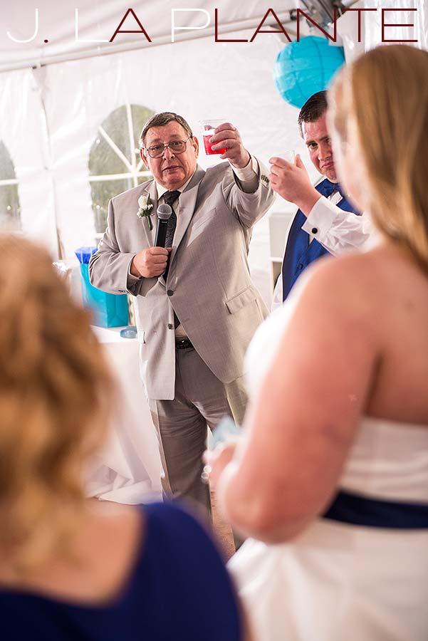 J. LaPlante Photo   Denver Wedding Photographer   Hudson Gardens Wedding   Wedding Toast