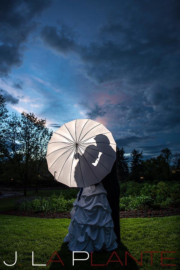 J. LaPlante Photo   Denver Wedding Photographer   Hudson Gardens Wedding   Wedding Umbrella Photo