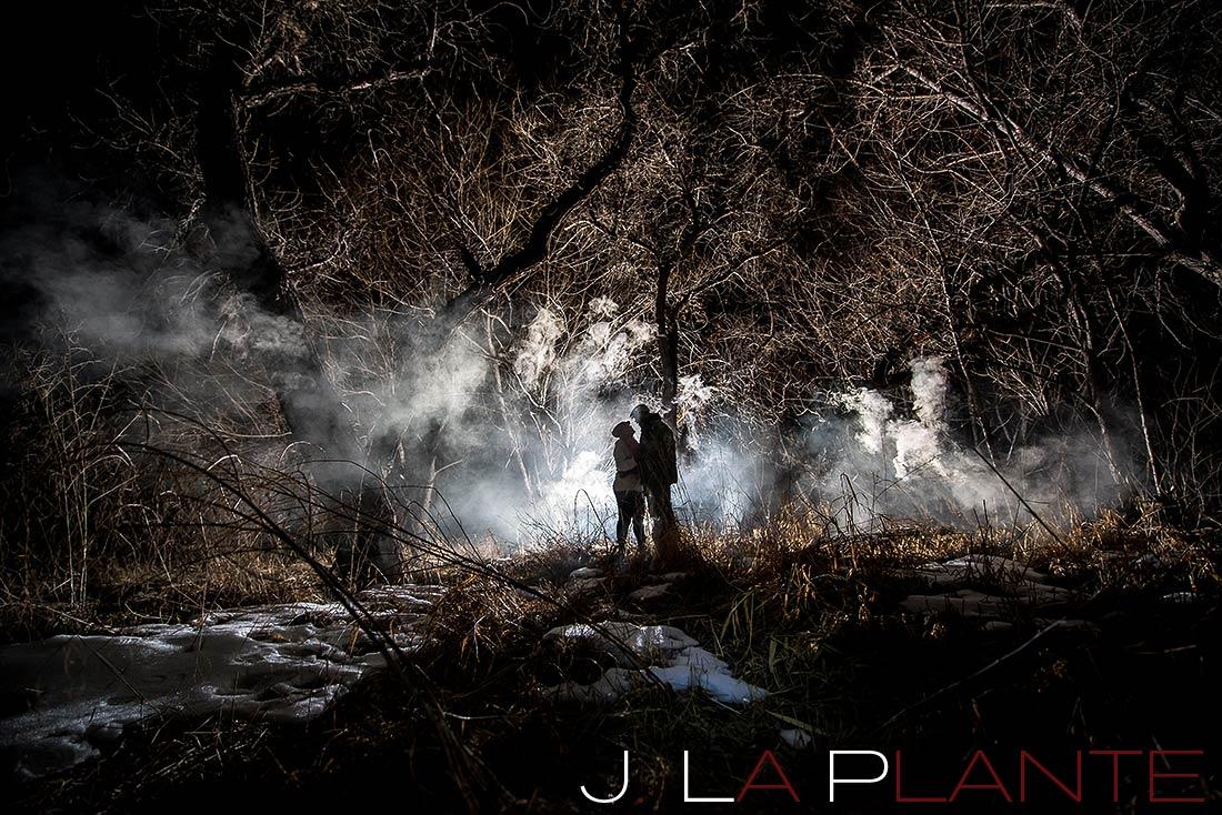 Smoke bomb engagement photos | Denver wedding photographers | J. La Plante Photo