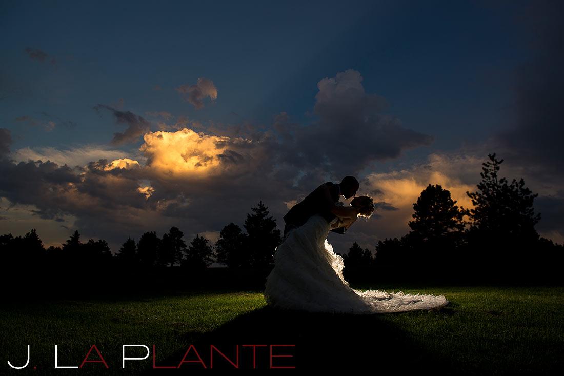 J. LaPlante Photo   Evergreen Wedding Photographer   Evergreen Lake House Wedding   Sunset Wedding Photo