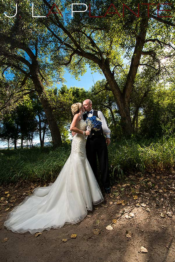 J. LaPlante Photo   Denver Wedding Photographer   Chatfield Botanic Gardens Wedding   Bride And Groom Portrait