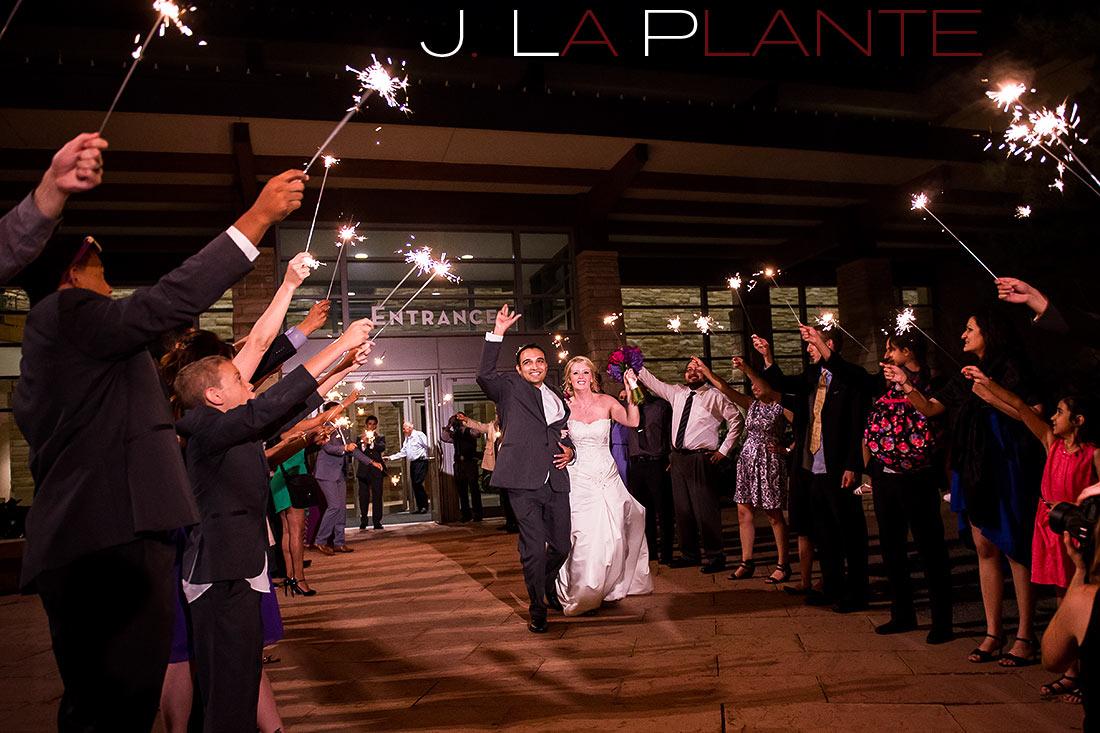 J. LaPlante Photo   Parker Wedding Photographer   Wildlife Experience Wedding   Sparkler Send Off