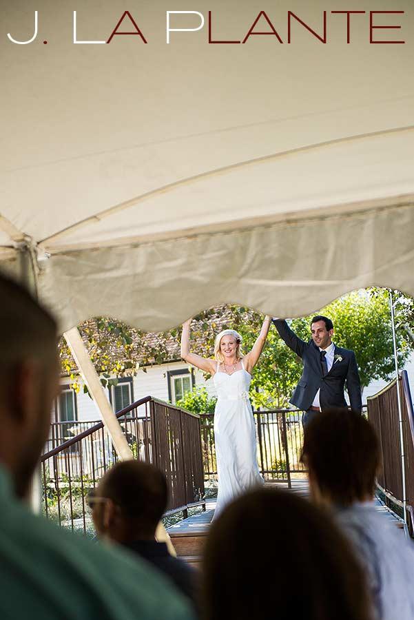 J. LaPlante Photo   Denver Wedding Photographer   Chatfield Botanic Gardens Wedding   Bride And Groom Entrance