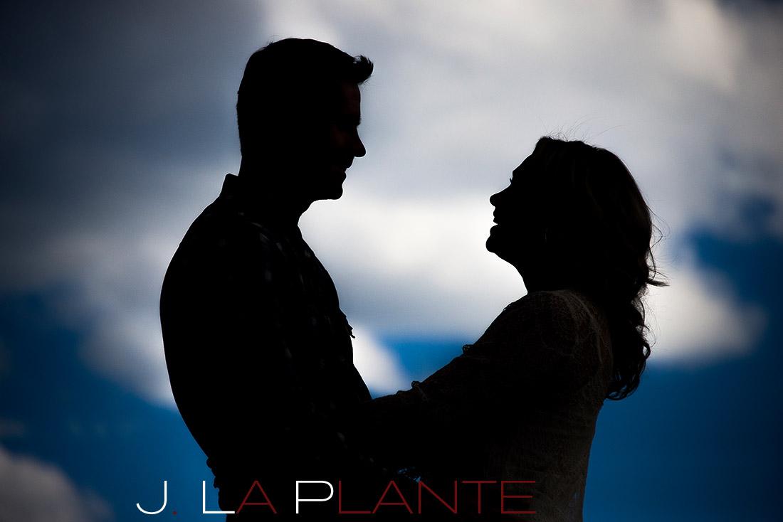 J. LaPlante   Golden Engagement Photographer   Genesee Park Engagement   Silhouette Engagement Photo
