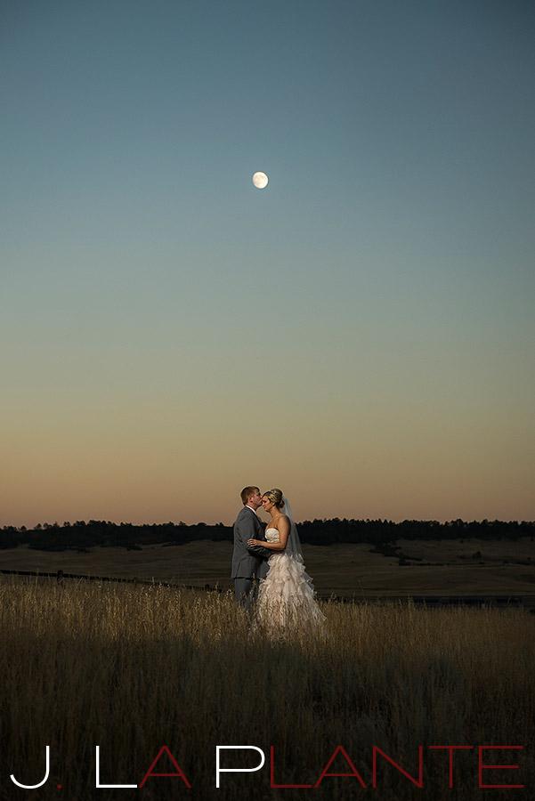 J. LaPlante Photo   Sedalia Wedding Photographer   Spruce Mountain Ranch Wedding   Moon Wedding Photo