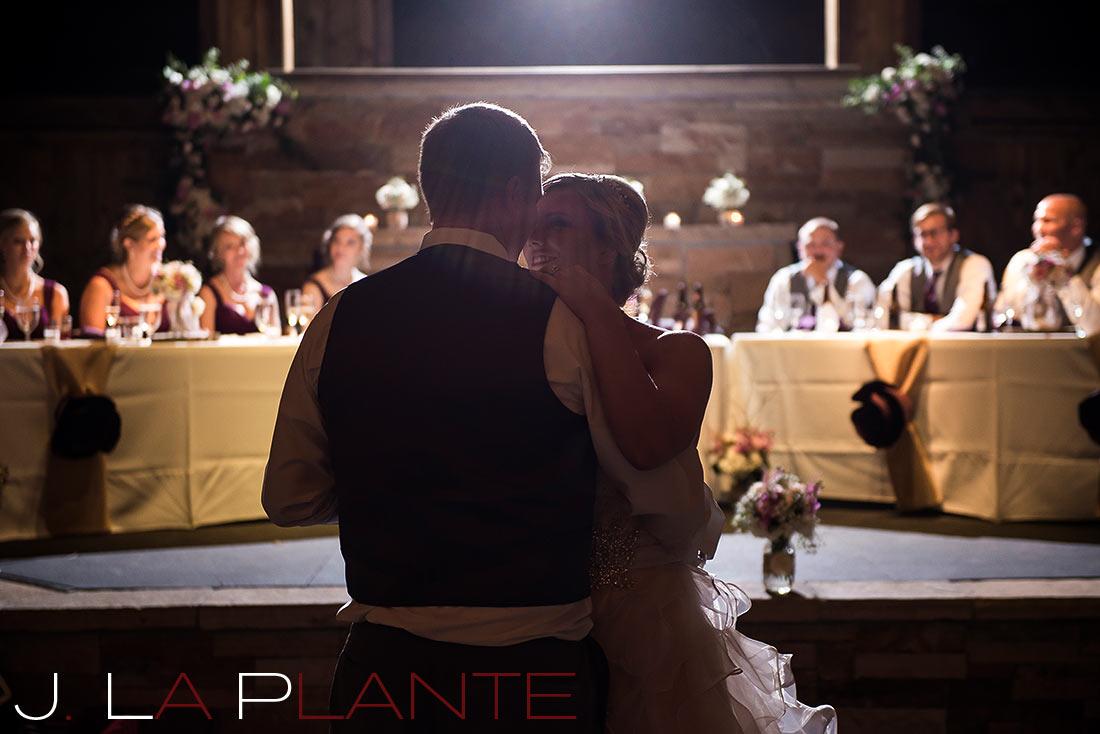 J. LaPlante Photo   Sedalia Wedding Photographer   Spruce Mountain Ranch Wedding   First Dance Photo