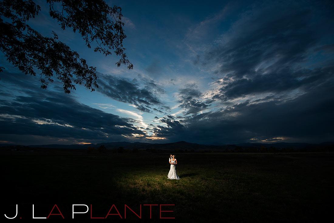 J. LaPlante Photo   Boulder Wedding Photographer   Shupe Homestead Wedding   Sunset Wedding Photo