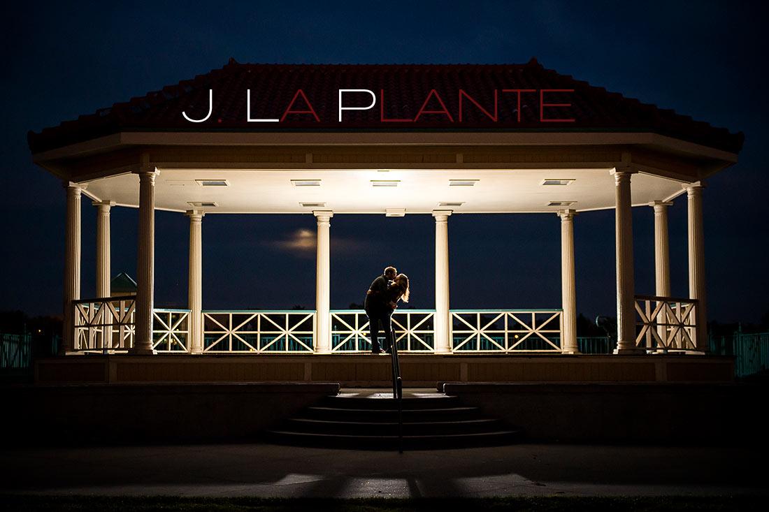 J. LaPlante Photo   Denver Engagement Photographer   City Park Denver Engagement   Nighttime Engagement Portrait