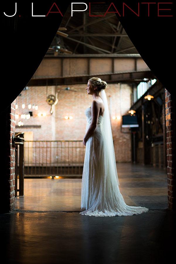 Bridal portrait   Mile High Station Wedding   Denver Wedding Photographer   J. La Plante Photo