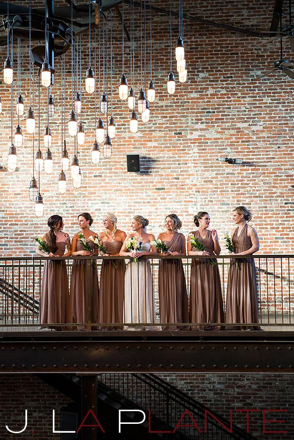 Bride with bridesmaids   Mile High Station Wedding   Denver Wedding Photographer   J. La Plante Photo
