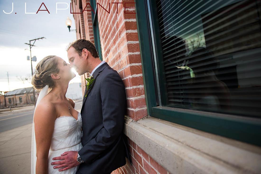 First look   Mile High Station Wedding   Denver Wedding Photographer   J. La Plante Photo