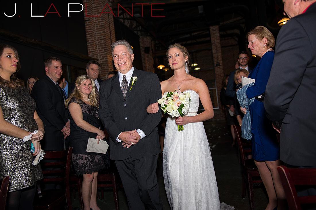 Wedding ceremony   Mile High Station Wedding   Denver Wedding Photographer   J. La Plante Photo