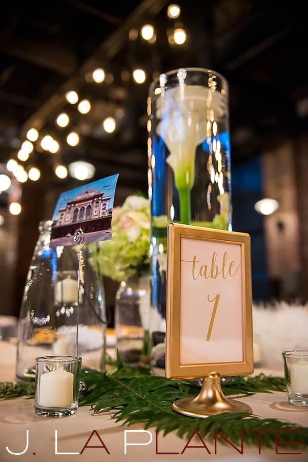Lily wedding centerpiece   Mile High Station Wedding   Denver Wedding Photographer   J. La Plante Photo