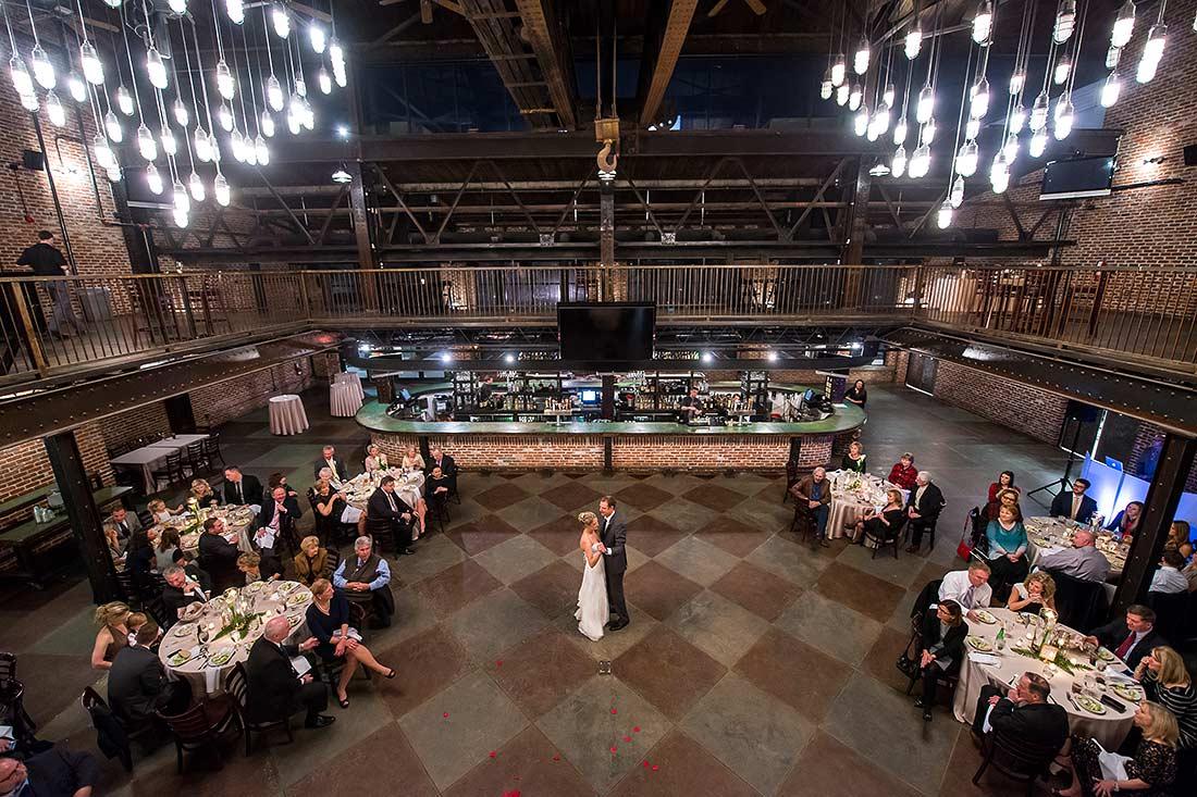 First dance   Mile High Station Wedding   Denver Wedding Photographer   J. La Plante Photo