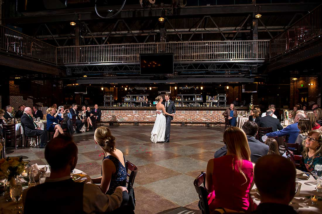 First Dance Mile High Station Wedding Denver Photographer J La Plante