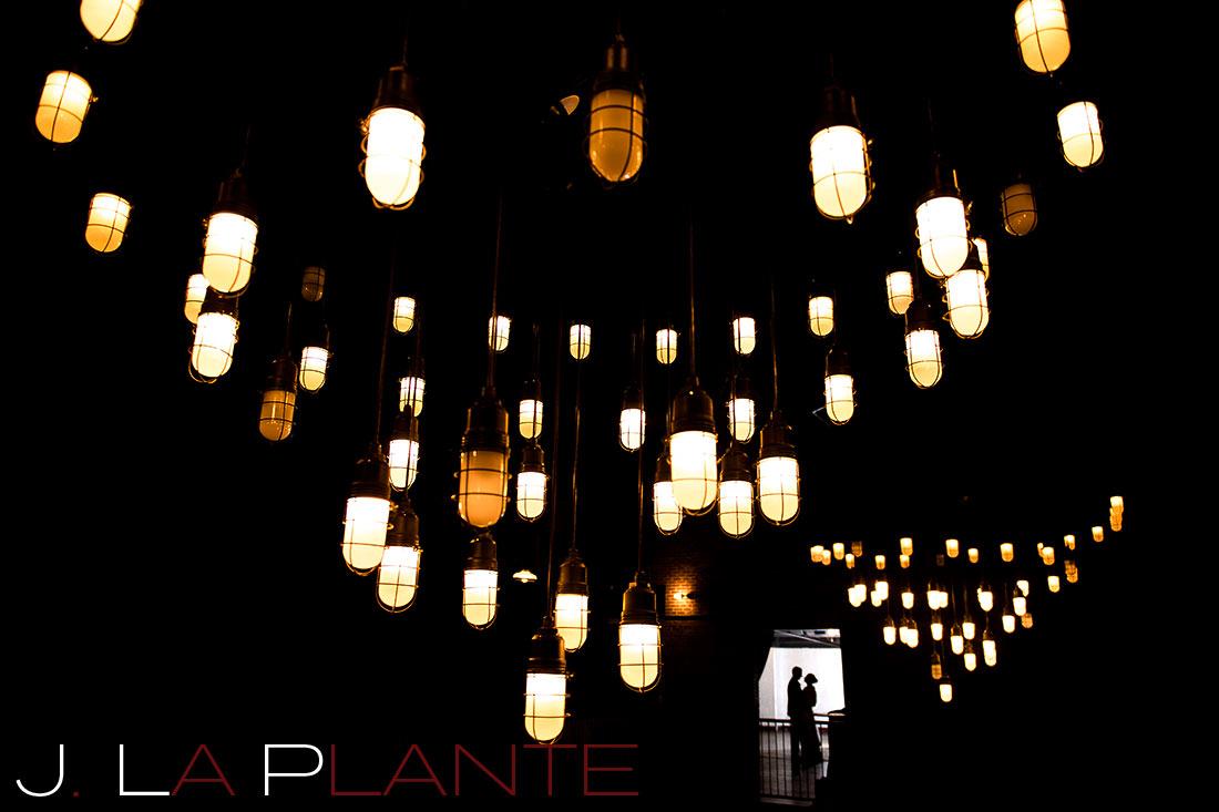 Cool nighttime wedding photo   Mile High Station Wedding   Denver Wedding Photographer   J. La Plante Photo