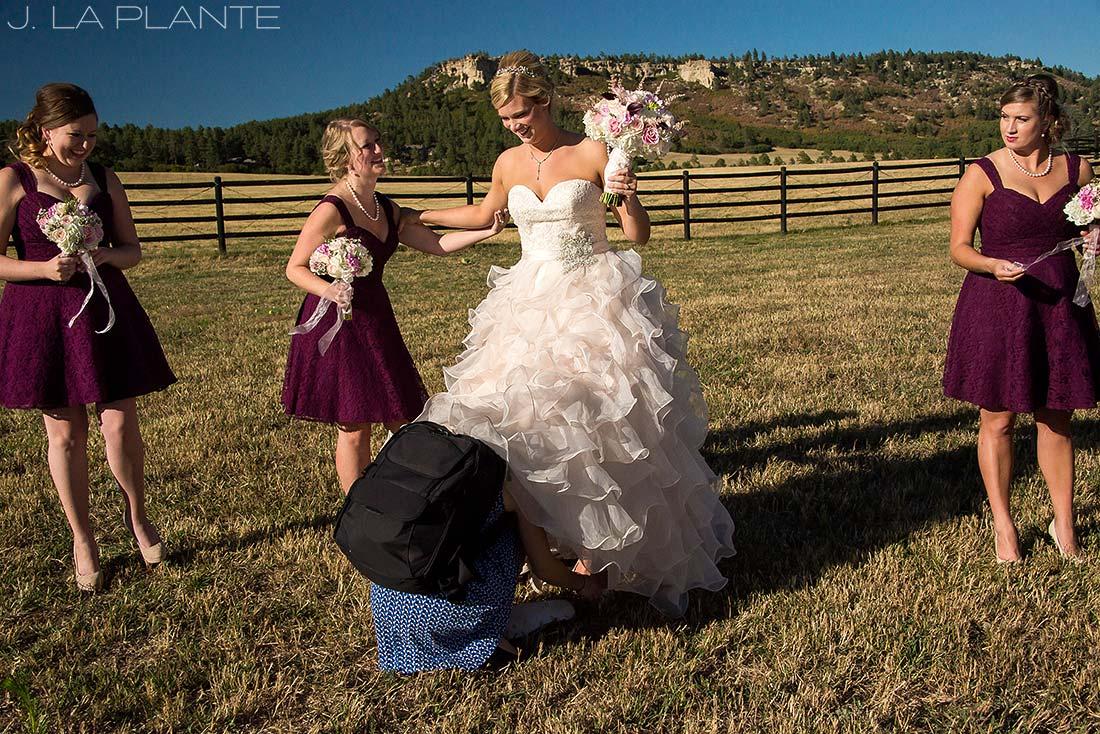 J. LaPlante Photo | Spruce Mountain Ranch Wedding | Bride And Bridesmaids