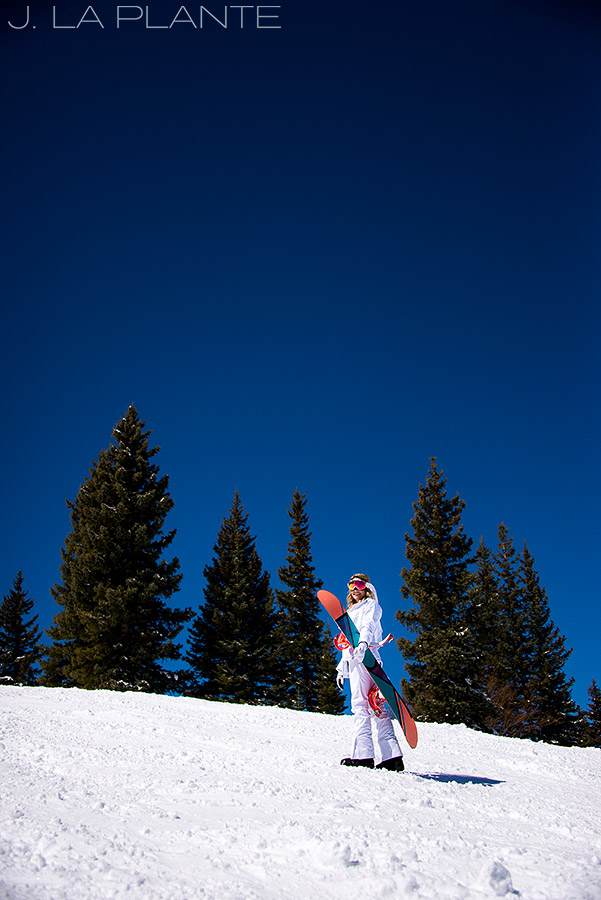 J. LaPlante Photo | Eagle County Wedding Photographer | Beaver Creek Mountain Wedding | Snowboard Bride