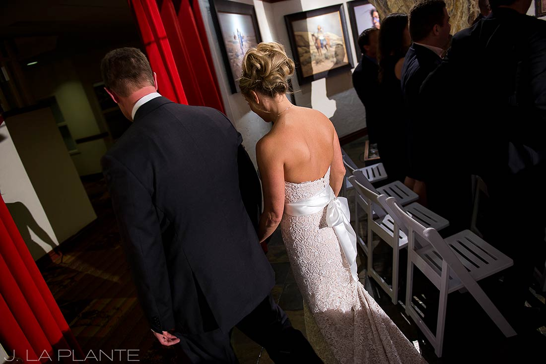J. LaPlante Photo | Beaver Creek Wedding Photographer | Beaver Creek Lodge Wedding | Bride And Groom Exiting Ceremony