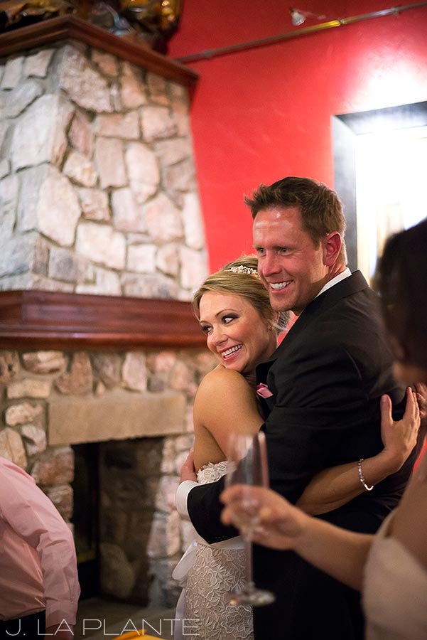 J. LaPlante Photo | Colorado Wedding Photographer | Beaver Creek Lodge Wedding | Bride And Groom Hugging