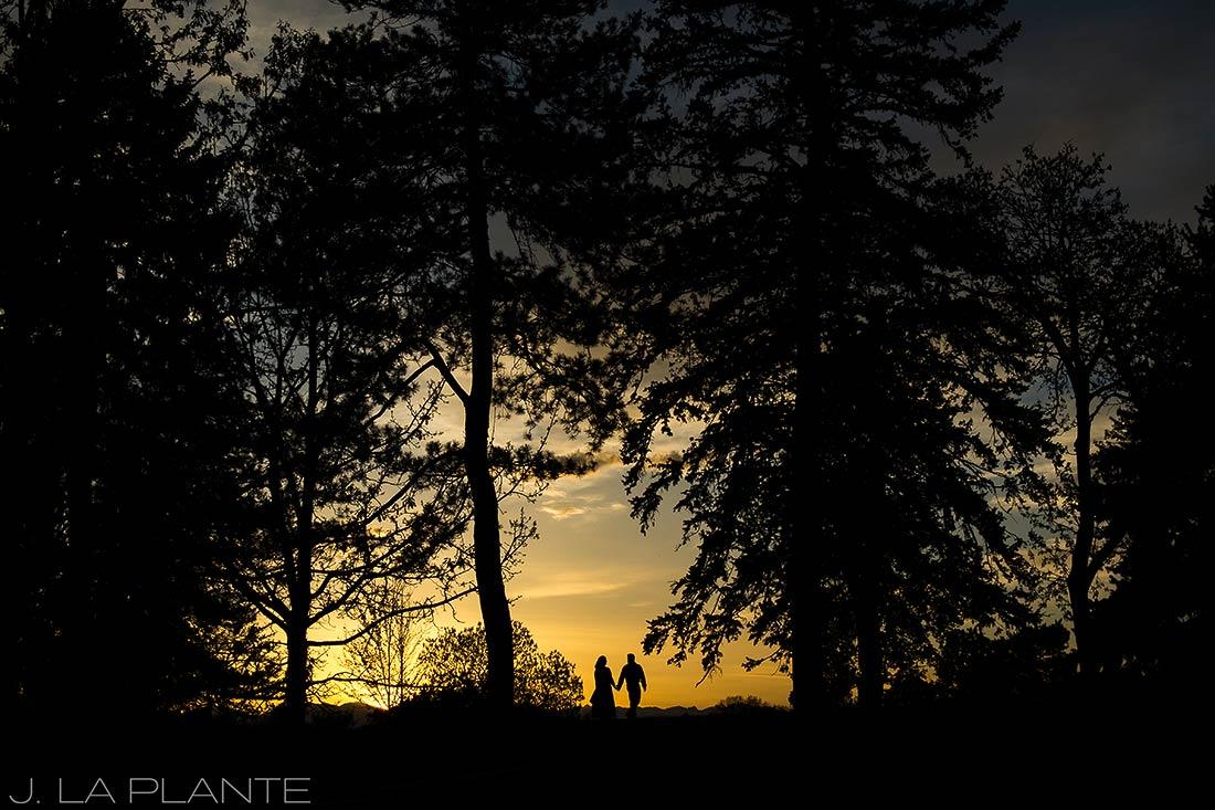 J. La Plante Photo | Denver Wedding Photographer | Denver City Park Engagement | Sunset Engagement Photo