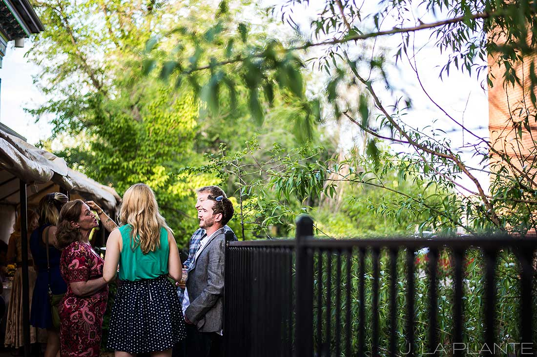 J. La Plante Photo | Boulder Wedding Photographers | Dushanbe Tea House Engagement | Groom To Be Mingling