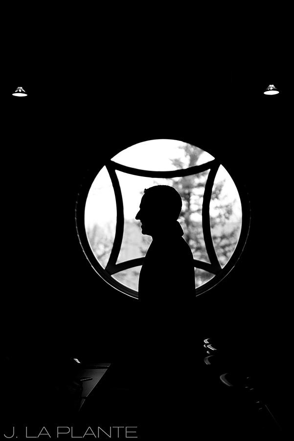 silhouette photo of groom