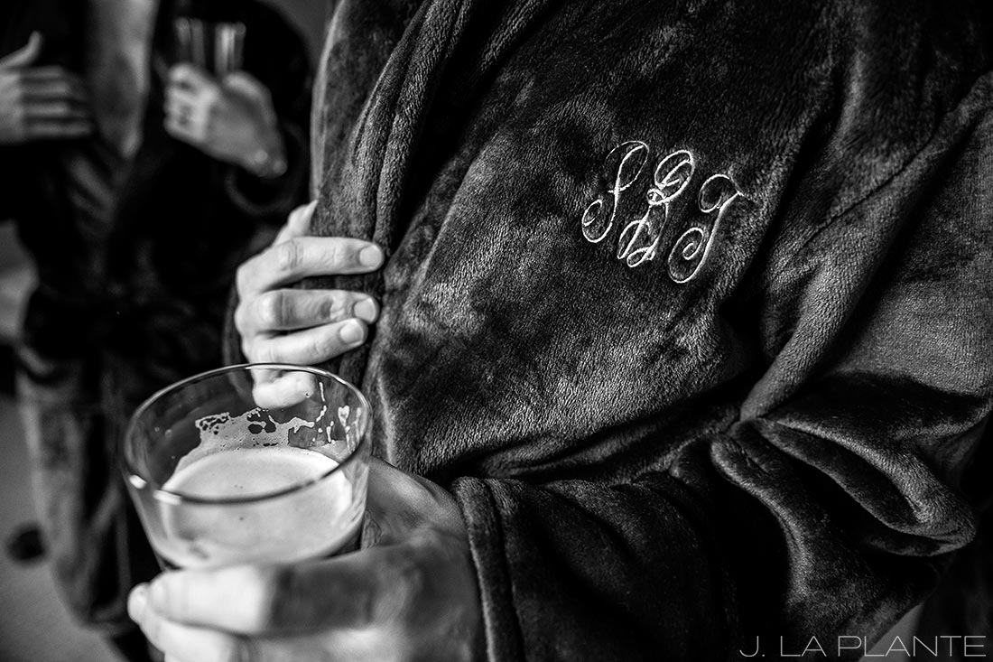 J. La Plante Photo | Denver Wedding Photographer | University of Denver Wedding | Fritz Knoebel Wedding | Groom in Bathrobe