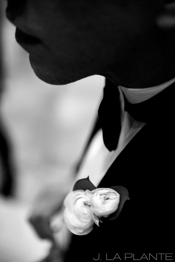 J. La Plante Photo | Denver Wedding Photographer | University of Denver Wedding | Fritz Knoebel Wedding | Boutonniere
