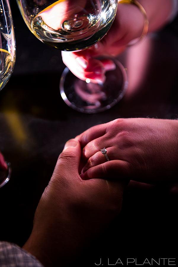 J. La Plante Photo | Denver Wedding Photographer | Larimer Square Engagement | Engagement Ring Photo