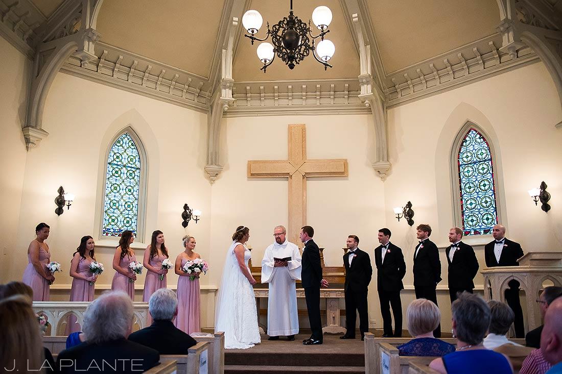 J. La Plante Photo | Denver Wedding Photographer | University of Denver Wedding | Evans Chapel Wedding | Wedding Ceremony in Chapel