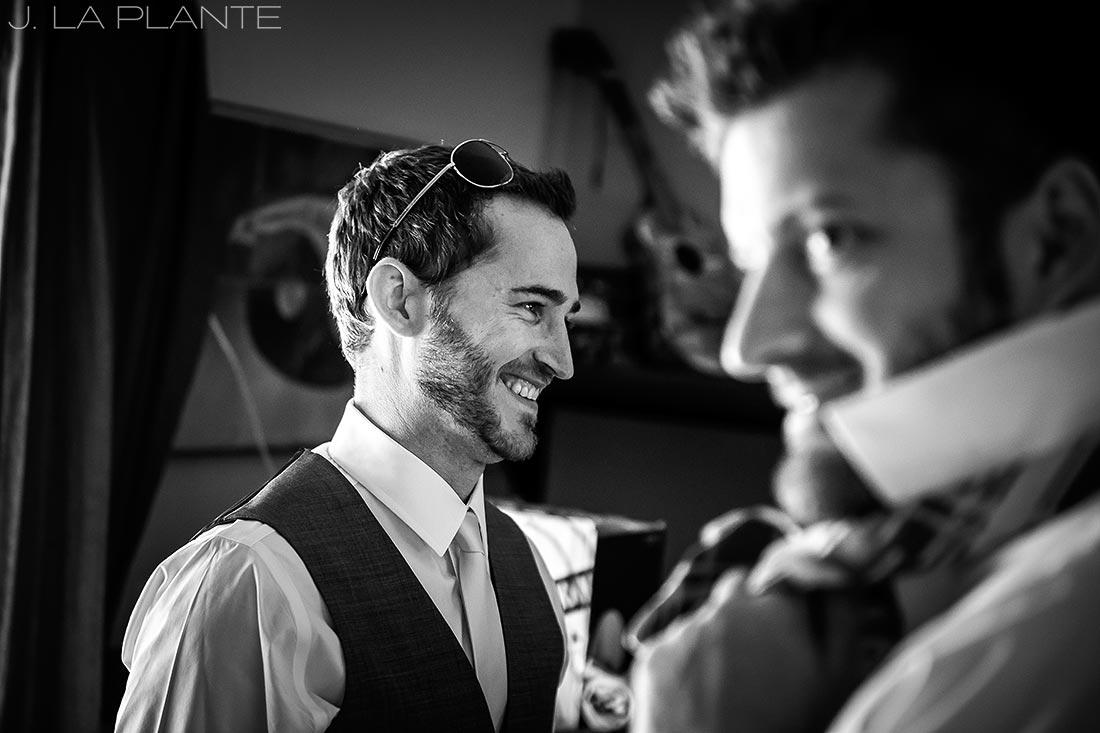 J. La Plante Photo | Boulder Wedding Photographer | Planet Bluegrass Wedding | Groomsmen Getting Ready