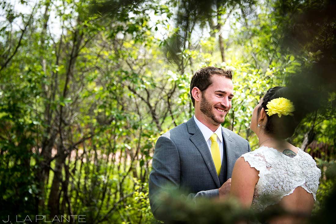 J. La Plante Photo | Boulder Wedding Photographer | Planet Bluegrass Wedding | Wedding First Look