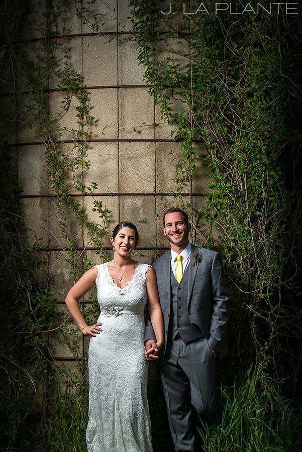 J. La Plante Photo | Boulder Wedding Photographer | Planet Bluegrass Wedding | Bride and Groom by Silo