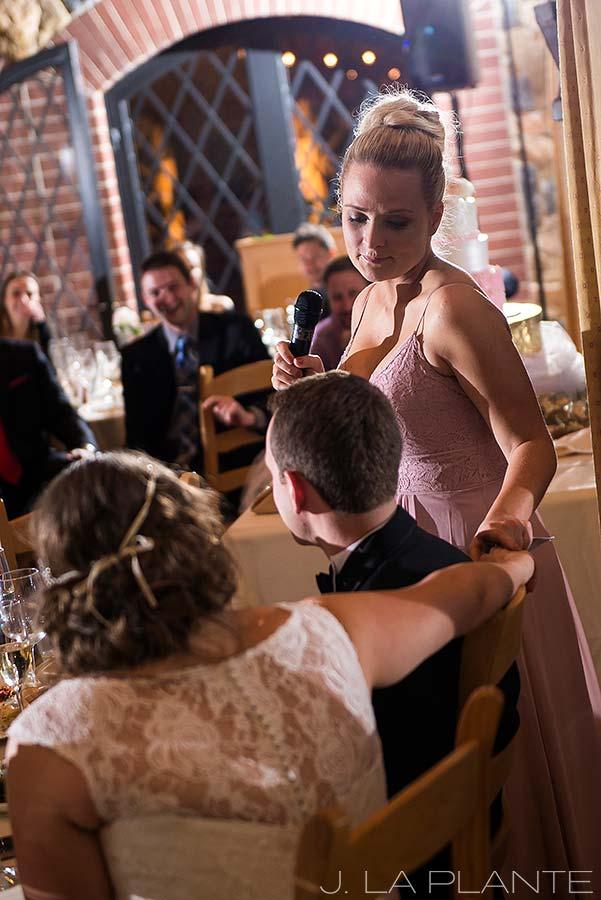 J. La Plante Photo | Denver Wedding Photographer | University of Denver Wedding | Fritz Knoebel Wedding | Maid of Honor Speech