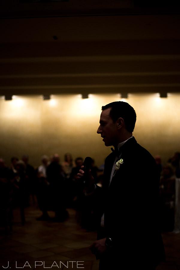 J. La Plante Photo | Denver Wedding Photographer | University of Denver Wedding | Fritz Knoebel Wedding | Groom Toasting