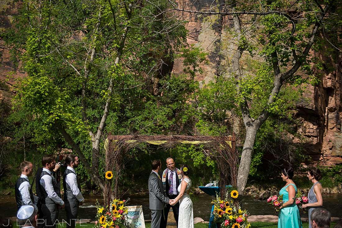 J. La Plante Photo | Boulder Wedding Photographer | Planet Bluegrass Wedding | Jewish Wedding Ceremony