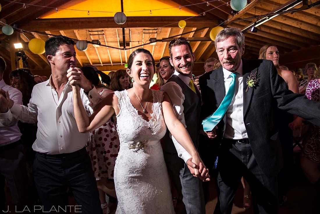 J. La Plante Photo | Boulder Wedding Photographer | Planet Bluegrass Wedding | Dancing the wedding hora