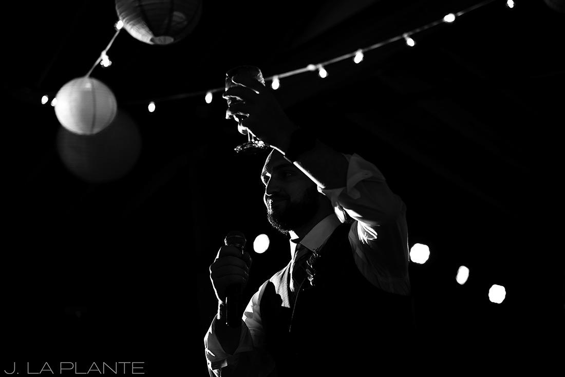 J. La Plante Photo | Boulder Wedding Photographer | Planet Bluegrass Wedding | Best man toast