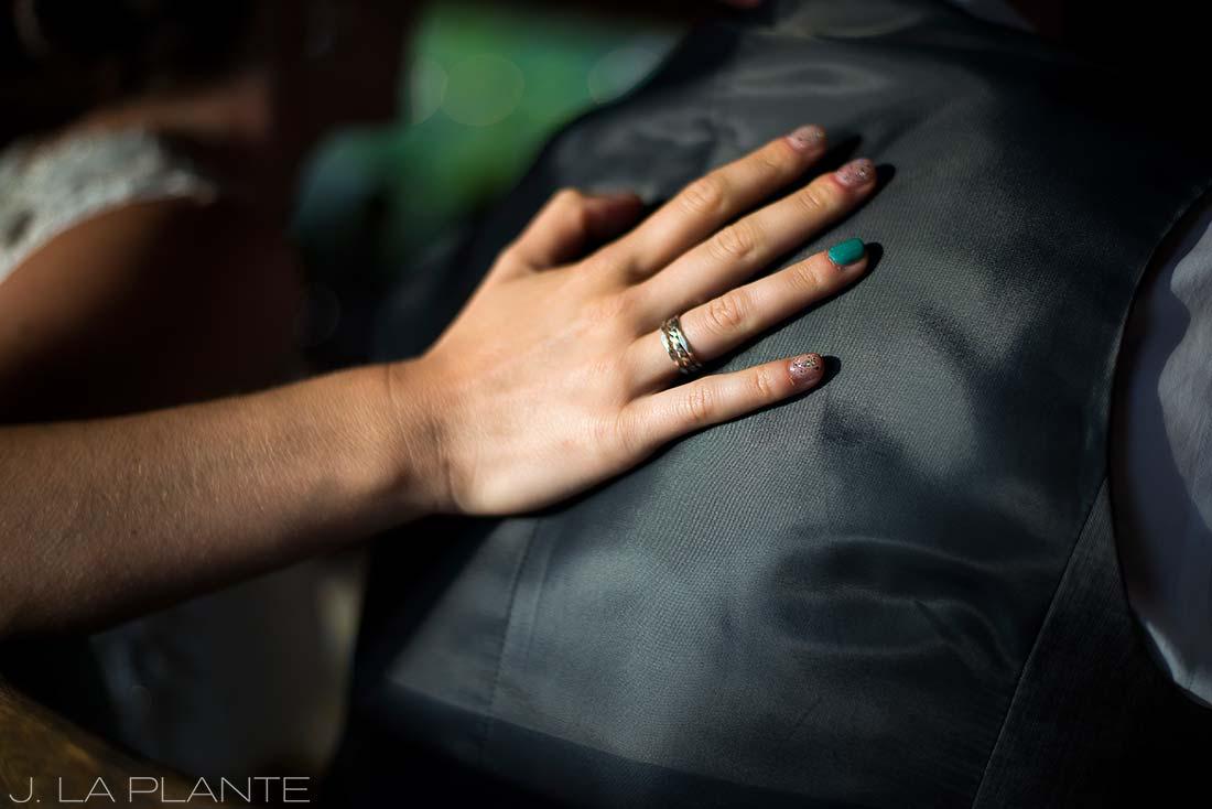 J. LaPlante Photo | Boulder Wedding Photographer | Planet Bluegrass Wedding | Bride's hand