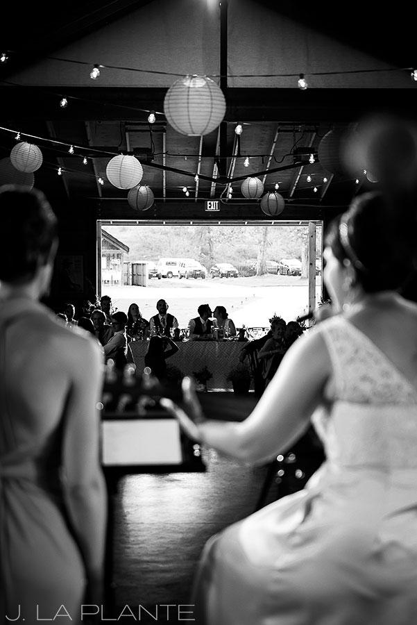 J. La Plante Photo | Boulder Wedding Photographer | Planet Bluegrass Wedding | Bridesmaids singing song